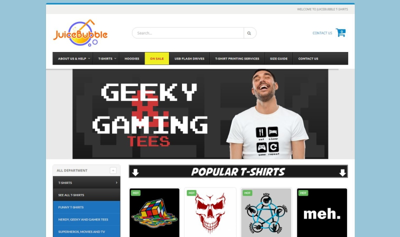 Web design cape town digital consulting for T shirt ecommerce website